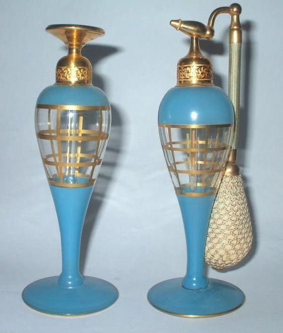 1920's Art Deco DeVilbiss perfume bottles