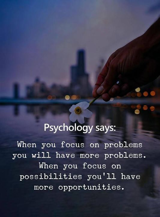 Focus on possibilities..