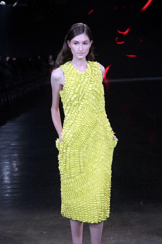 Desfile Apartamento 03 – Verão 2014 no PBC #fashionshow #yellow
