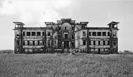 Bokor Hill Lodge. Cambodia, Kep. Abandoned since the 1940s and reused in the 1970s by the Khmer Rouge. [1020 x 522] - Imgur