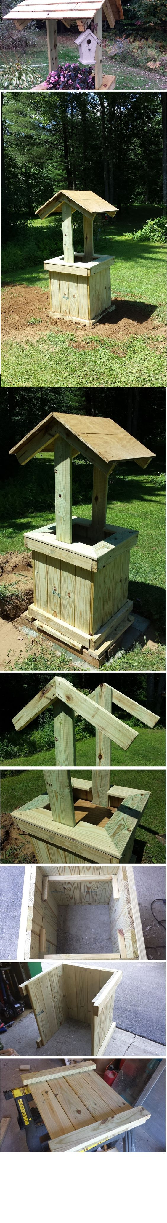 Concrete Well Lids For Wells : The wishing well i built to cover concrete septic tank