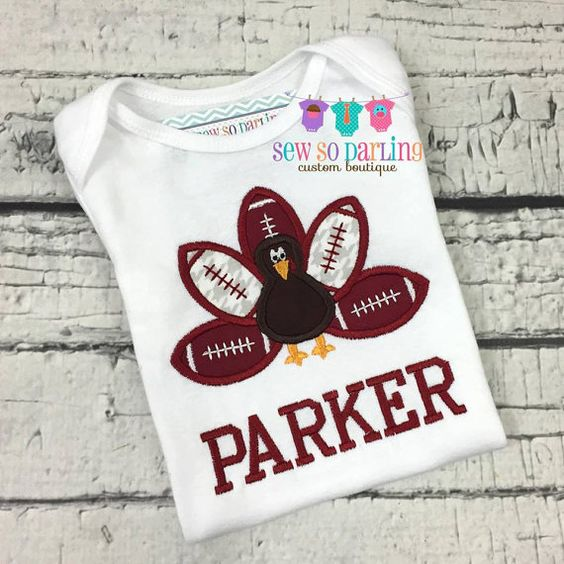 Baby Boy Thanksgiving Outfit -Turkey Football Baby Outfit - Alabama Football…