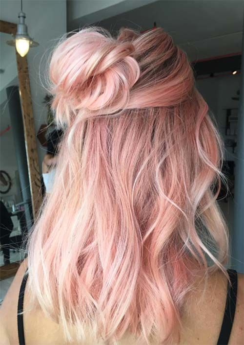52 Charming Rose Gold Hair Colors How To Get Rose Gold Hair
