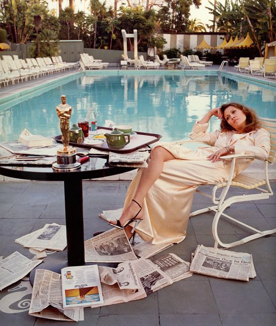 Faye Dunaway the morning after she won her Oscar, 1977