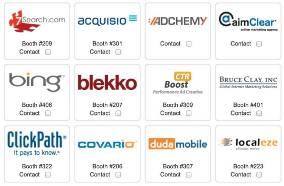 SMX West 2012 - Sponsors & Exhibitors. Say hello to them at the show!