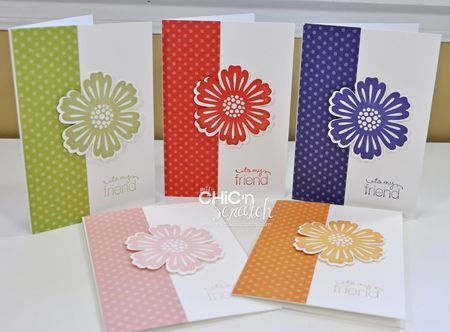 """Mixed Bunch"" cards by Angie Kennedy Juda using 2010-12 In Colors from Stampin' Up!"