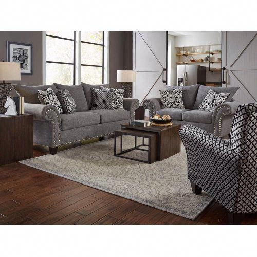 Corinthian 66j366j2ac1466jg Paradigm Carbon Sofa Loveseat Niko Onyx Accent Chair Group Livingro Grey Living Room Sets Loveseat Living Room Living Room Sets