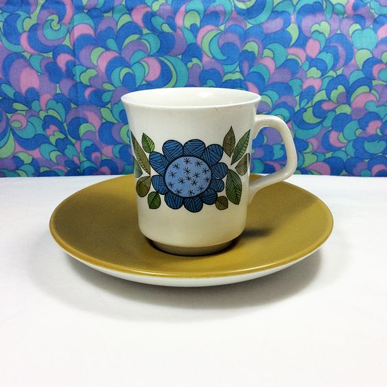 60s Vintage Retro J & G Meakin Studio Topic Cup & Saucer 4 Available