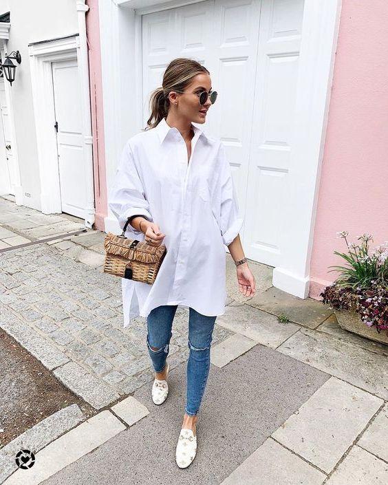 chemise blanche trop grande