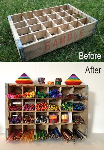 bottle crate before and after