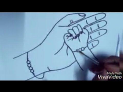 رسم يد ام وطفلتها رسم يد ام ماسكة يد بنتها رسم يد ام وبنتها رسم لعيد الأم Mother Daughter Drawing Youtube Mother And Daughter Drawing Okay Gesture