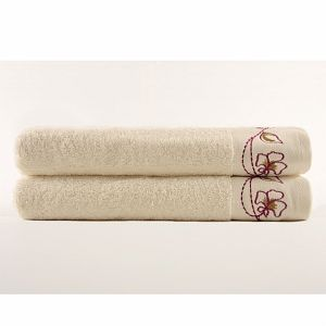 I'm learning all about Pure Fiber 100% Turkish Cotton Floral Embroidered Bath Towel Set at @Influenster!