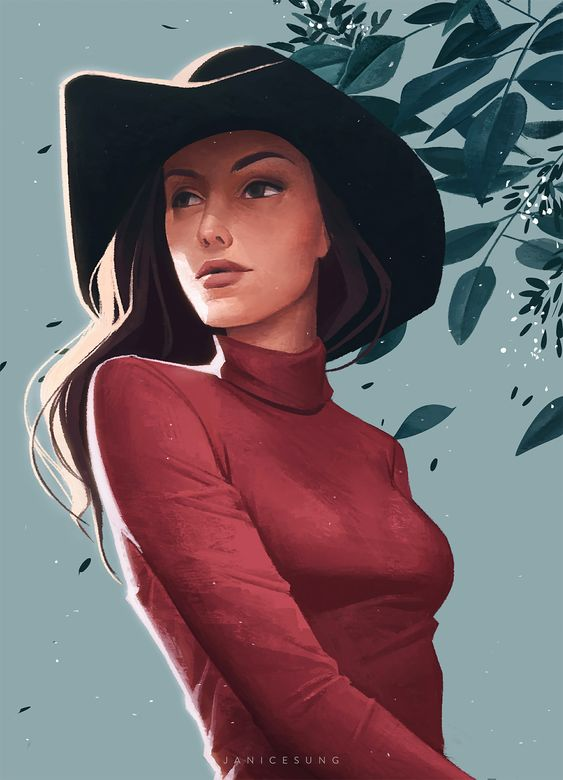 Beautiful Illustrated Portraits by Janice Sung – Inspiration Grid | Design Inspiration #illustration #drawing #illustrationinspiration #portrait #inspirationgrid