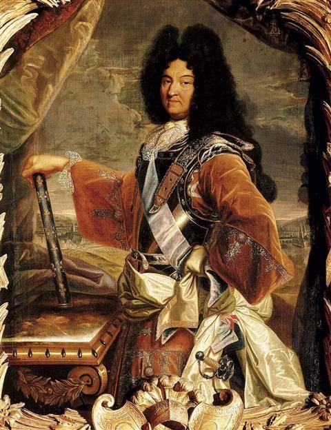AA374621. Luis XIV de Francia, el Rey Sol. Retrato por Hyacinte Rigaud
