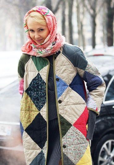 Пальто в стиле пэчворк своими