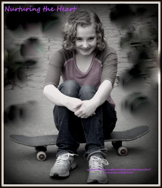 Skateboarding in Pink