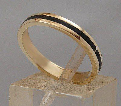 Alianzas Casamiento En Oro Y Ebano Estuche Y Grabado Gratis! - $ 2.999,00