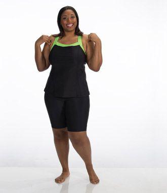 Women'S Swim Capris Plus Size - The Else