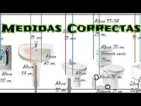 Medidas Correctas De Tomas De Agua Y Desagües Youtube Medidas De Inodoros Instalacion De Agua Tubo De Fontanería