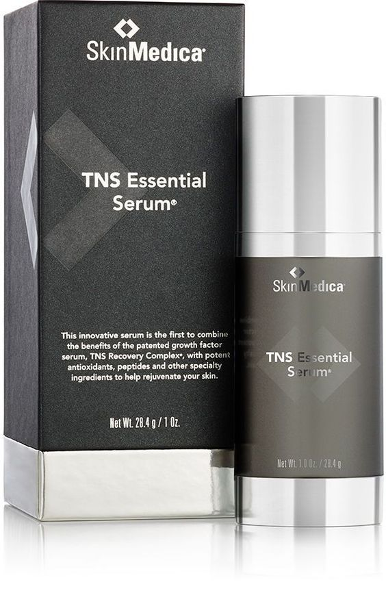 SkinMedica TNS Essential Serum® - All-in-one skin rejuvenating treatment improves the appearance of fine lines, wrinkles, skin tone and texture. #EyeSerumWrinkles