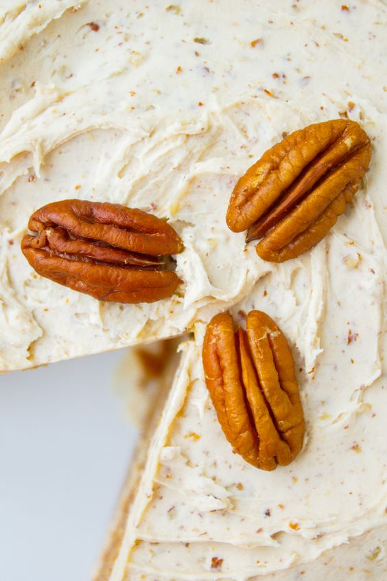 Cinnamon-Cardamom Cake with Maple Pecan Frosting — A spice cake full ...