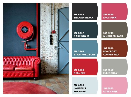 Industrial color palette inspiration chip it by sherwin for Painting inspiration generator