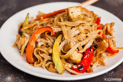 Asian Vegan Udon Noodles With Tofu And Vegetables Affiliate Udon Vegan Asian Vegetables Tofu Ad In 2020 Vegan Udon Vegan Udon Noodles Vegan Asian