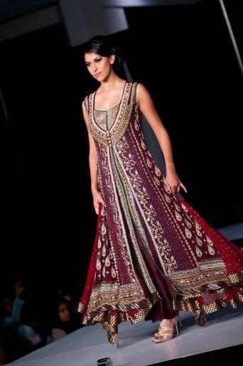 coat style pakistani dress