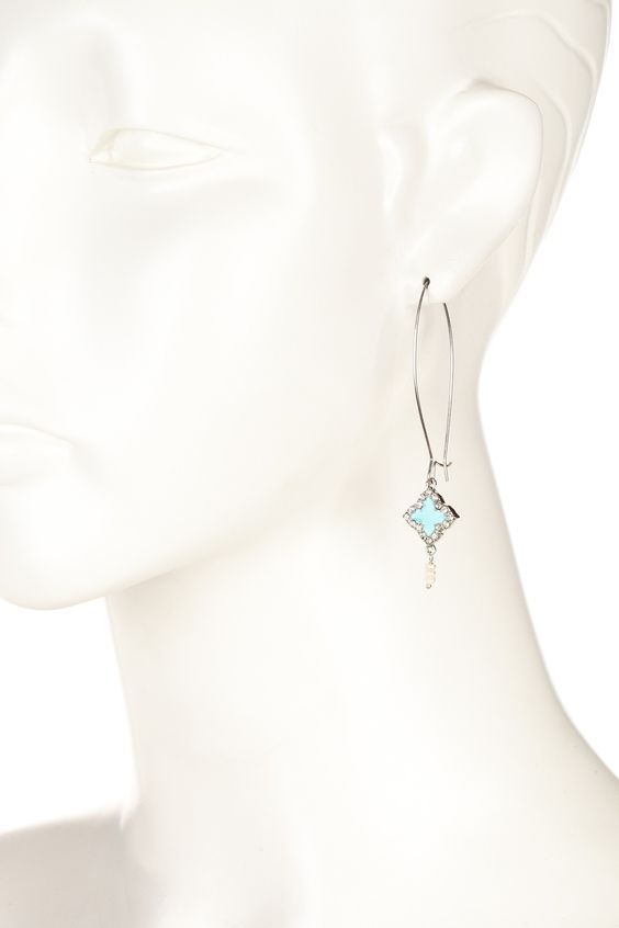 Claire Clover Drop Earrings by Zsa Zsa Jewels on @nordstrom_rack