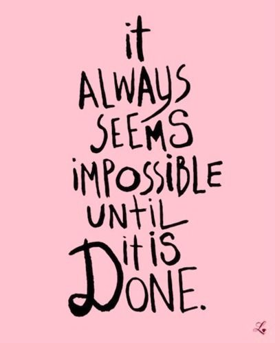 ...until it is done