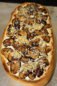 French Bread Mushroom Pizza