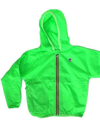 Love these new K-Way jackets - lightweight and NEON. Classic navy and green are also available. #tadashop