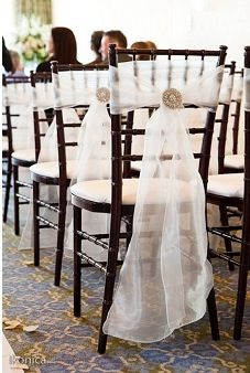 tule chair wraps