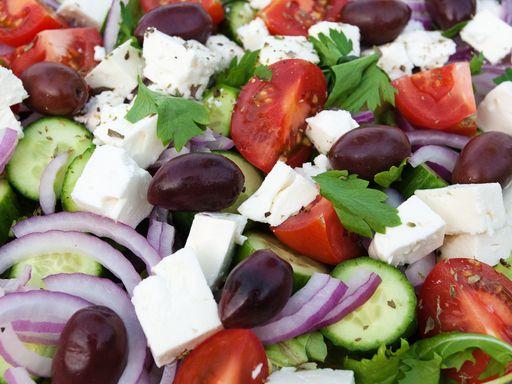Recette Salade grecque #recette #salade #facile