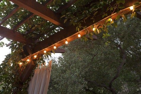 lights on pergola