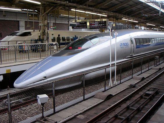 * Séries 500 * Shinkansen. Tokyo Station. Japão.