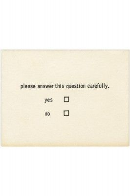 Benjamin Patterson. Questionnaire from Flux Year Box 2. c.1968, Fluxus Edition announced 1964