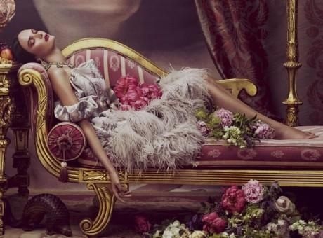 Ornate Expectations, baroque, baroque style, editorial, photographer, Andrew Yee, Model, Nina Porter, Laura O'Grady, Louisa Facchino-Stack, ...