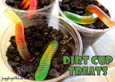 Dirt Cup Treats- Simple, easy treats to make in celebration of Earth Day.