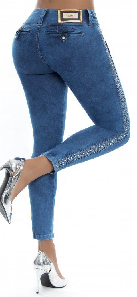 Jeans Levanta Cola Wow 86358 Jeans De Moda Jeans Levanta Cola Pantalones Vaqueros De Colores