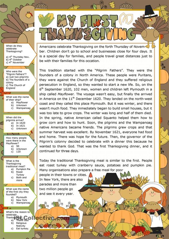 Printables Thanksgiving Reading Comprehension Worksheets thanksgiving reading comprehension pinterest comprehension