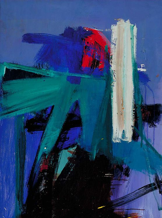 Beautiful abstract expressionist painting.Franz Kline: Blueberry Eyes, 1959-60 - oil on paperboard (Smithsonian)