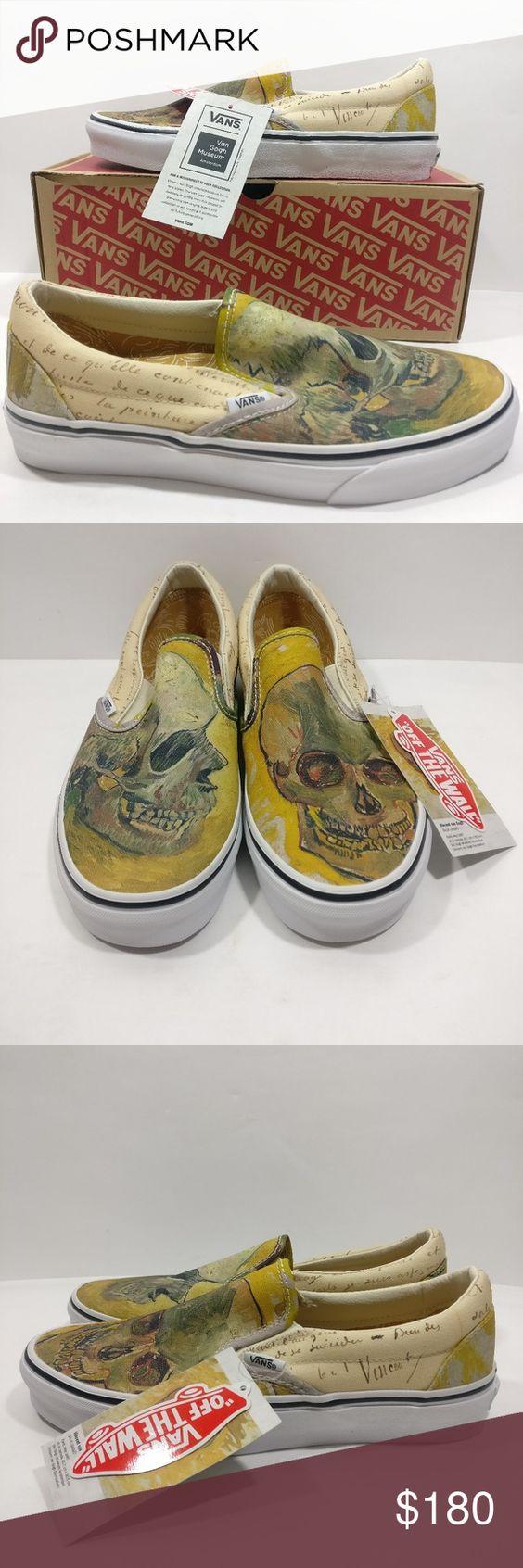 Vans Vincent Van Gogh Skull Slip On Shoes Vans Slip On Shoes On Shoes