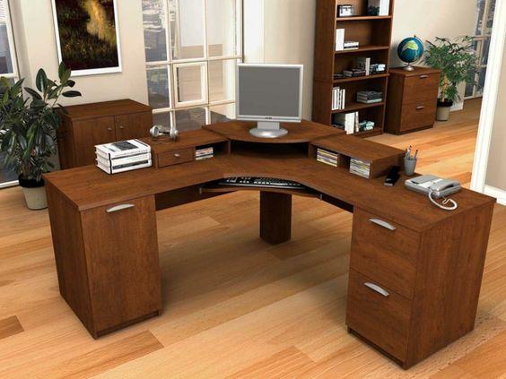 Büromöbel design holz  Dimensionen bei dem Büromöbel Design - büromöbel design holz eckig ...