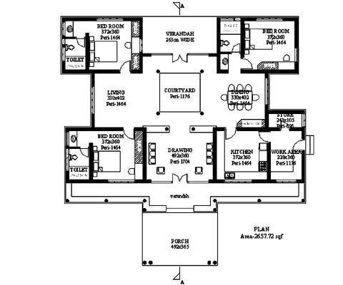 plans for house with internal COURTYARD - Google Search | Ideas ...
