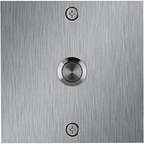 Waterwood Square Stainless Steel Doorbell Modern Doorbell Doorbell Stainless Steel Doors