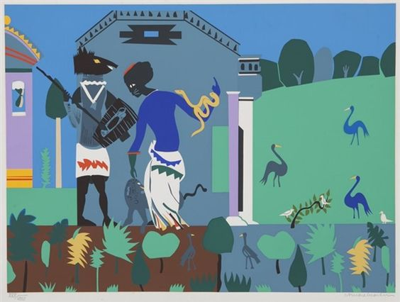 Romare Bearden - Circe into Swine (from Odysseus...