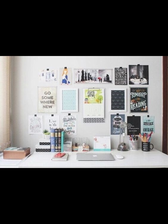 Diy Tumblr Room Decorations — Desk inspiration love this way the desk is...