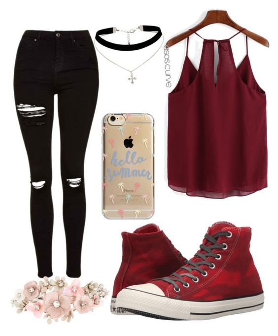 """""""my style"""" by joelle-nelissen on Polyvore featuring Topshop, Converse, Agent 18, ASOS Curve and Accessorize"""