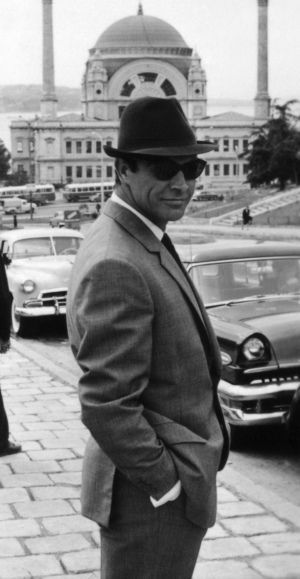Sean Connery behind the scenes during his second outing as James Bond, From Russia With Love, in 1963.